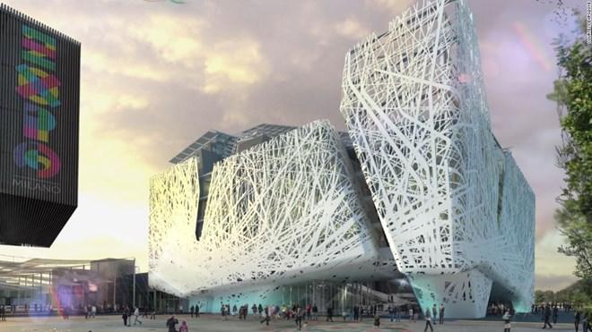 """1. Đứng ở vị trí thứ nhất là kiến trúc của nước chủ nhà Italy. Tác phẩm triển lãm của nước chủ nhà Italy được đánh giá là một trong những độc đáo. Italy đã chọn chủ đề """"vườn ươm"""" cho dự án này."""